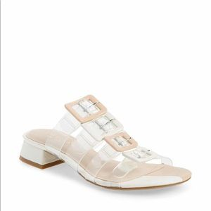 Cecelia NY Lincoln Strappy Clear Slide Sandal